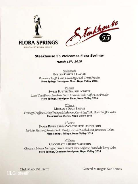 Flora Springs Winemaker dinner