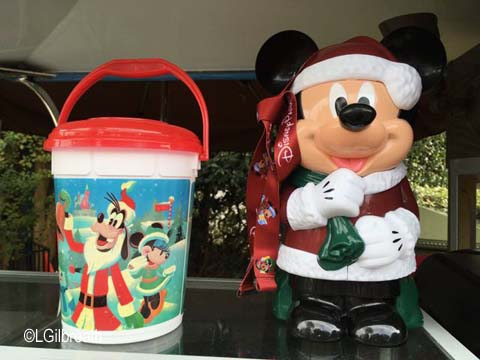 Disneyland 2016 Santa Mickey Popcorn Bucket