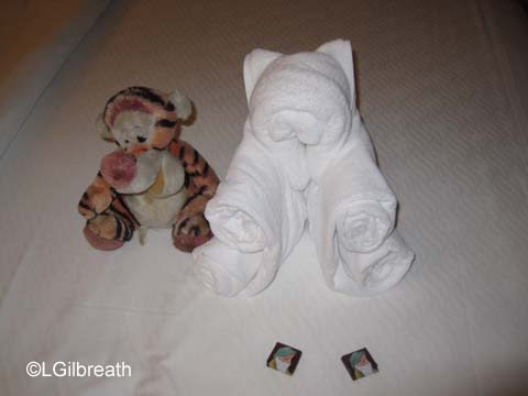 Teddy bear towel animal