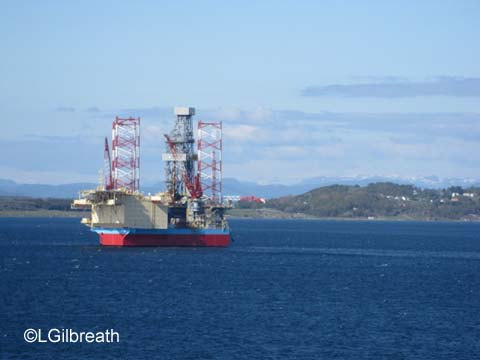 Oil rig Stavanger Norway