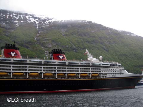 Disney Magic in Geiranger fjord