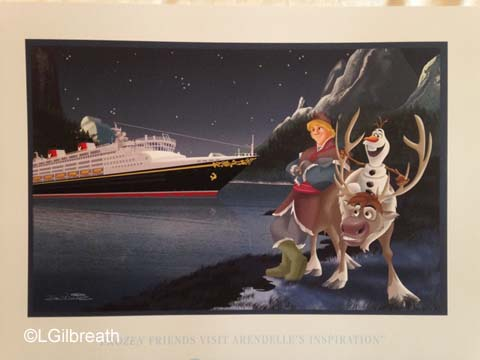 Disney Magic Norway lithograph