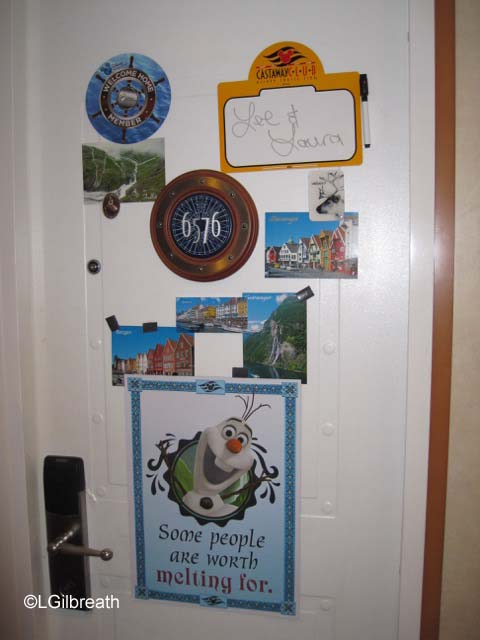 Disney Magic Norway stateroom door
