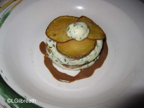 Potato and Goat Cheese Napoleon
