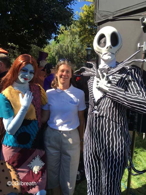 Jack and Sally at Disneyland