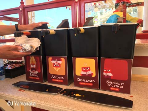 Angry Dogs condiments