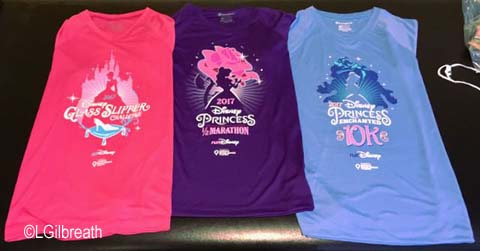 Princess Half Marathon 2017 race shirts