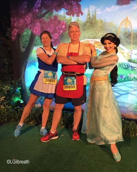 2017 Princess Half Marathon Belle Maurice running costume