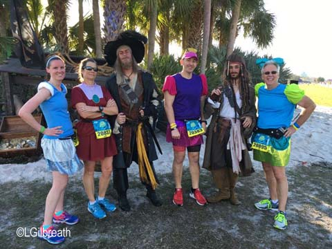 Princess Half Marathon pirates