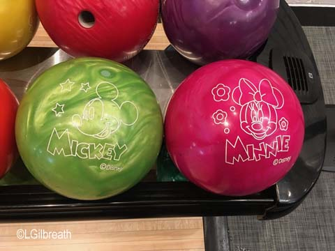 Splitsville Mickey Minnie bowling balls