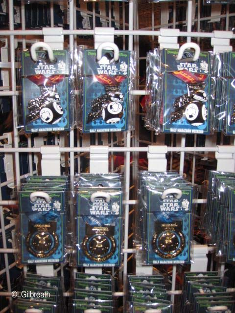 Star Wars Half Marathon pins