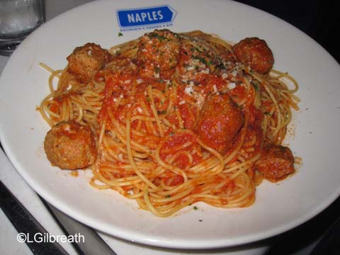 Naples Restaurant Spaghetti and Meatballs