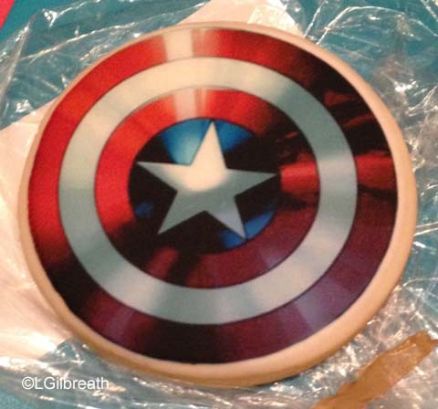 Captain America Shield Cookie Age of Ultron