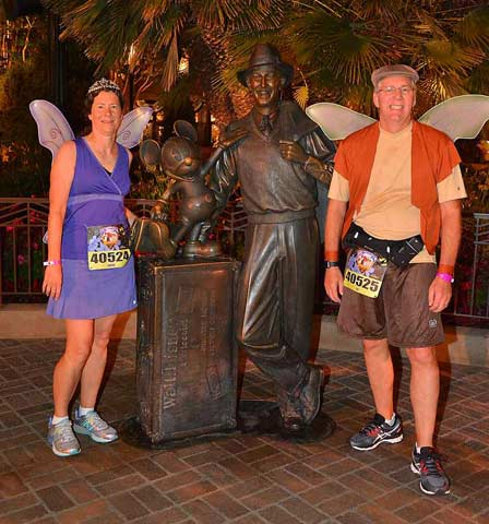 2016 Never Land 5K Walt and Mickey