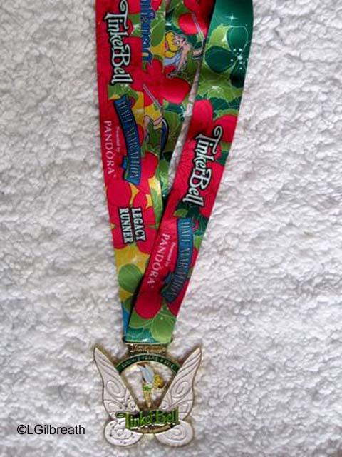 2016 Tinker Bell Half Marathon Legacy Runner medal