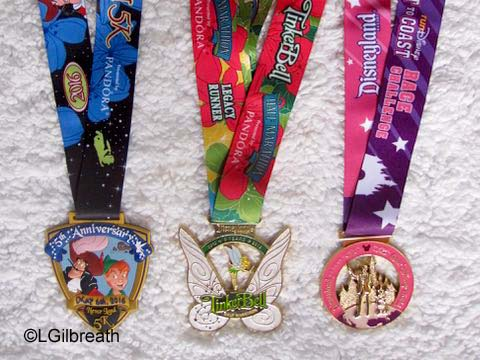 2016 Tinker Bell Half Marathon weekend medals