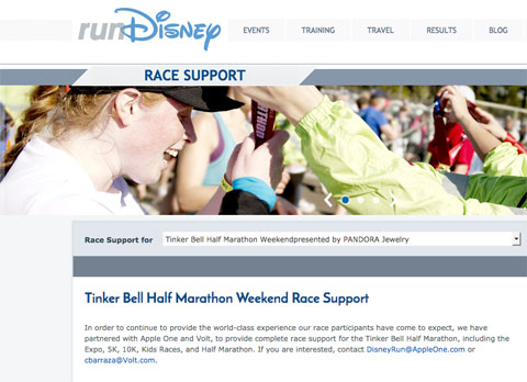 Tinker Bell Race Support
