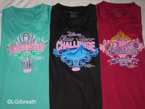 2016 Princess Half Marathon shirts