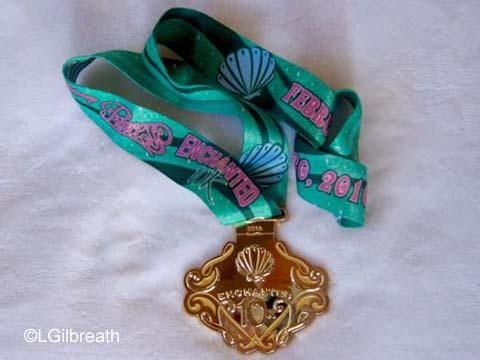 2016 Princess Enchanted 10K medal