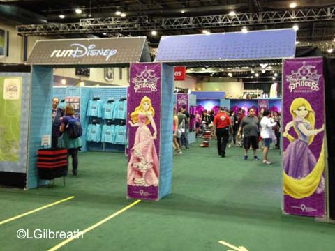2016 Princess Half Marathon Merchandise area