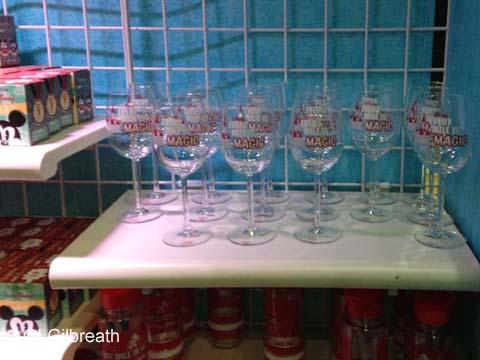 2016 Princess Half Marathon wine glasses
