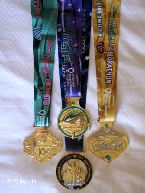 2016 Princess Half Marathon medals