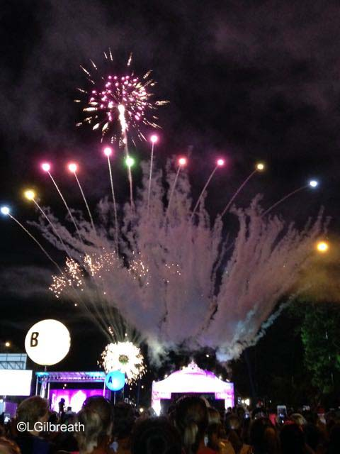 2016 Princess Half Marathon fireworks