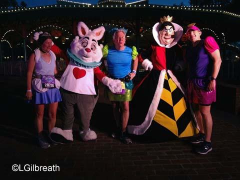 2016 Princess Half Marathon White Rabbit Queen of Hearts