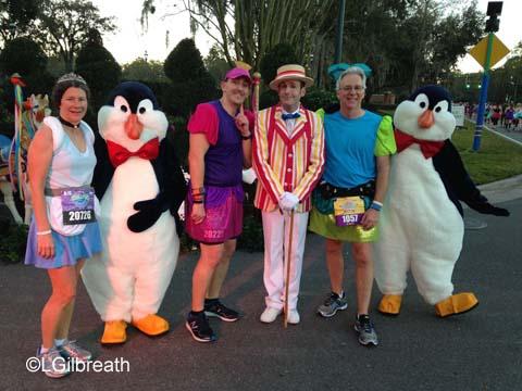 2016 Princess Half Marathon Bert penguins