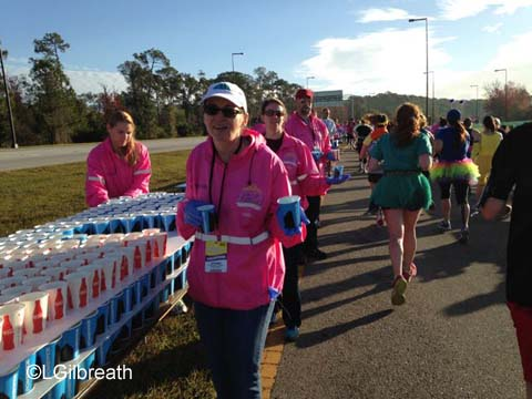 2016 Princess Half Marathon water station