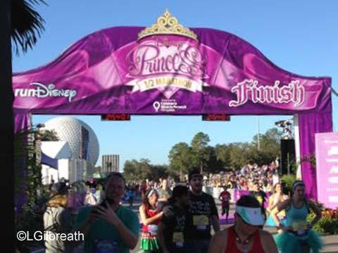2016 Princess Half Marathon finish line