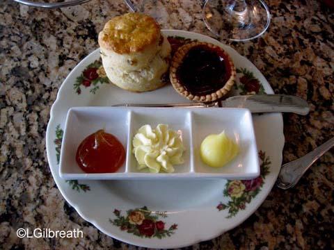 Grand Floridian Tea scone and jam tart