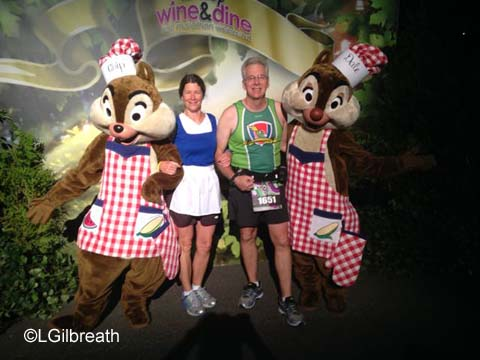 Wine and Dine Half Marathon Chip & Dale