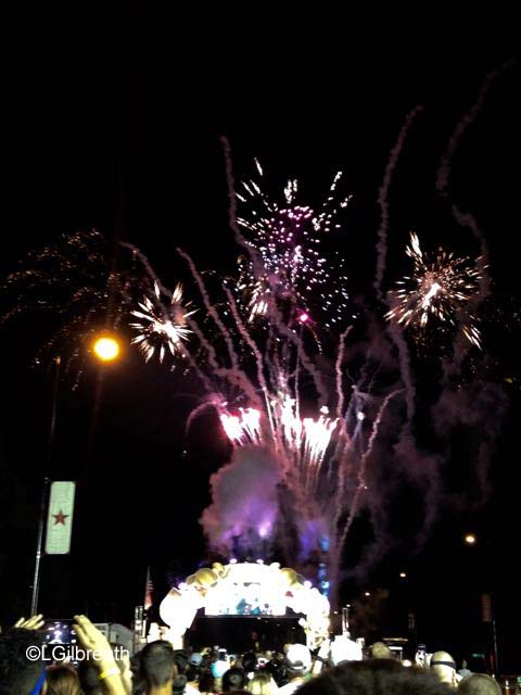 Wine and Dine Half Marathon fireworks