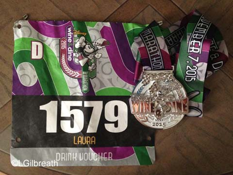 Wine and Dine Half Marathon medal
