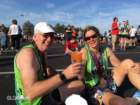 Wine and Dine half marathon weekend