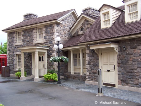 Building across from the hotel