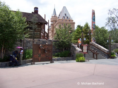 Looking into the pavilion