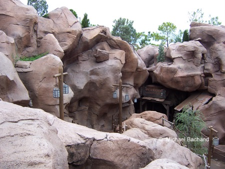 Looking down from hotel