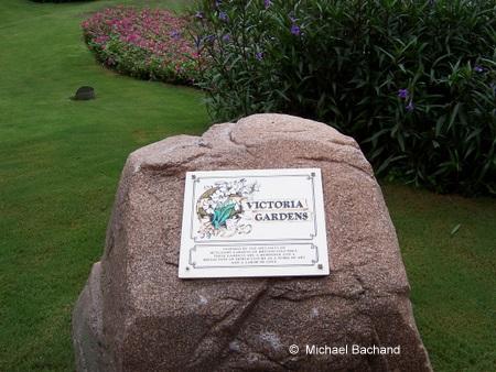 Victoria Gardens plaque