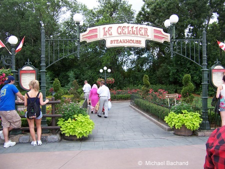 Le Cellier restaurant walkway