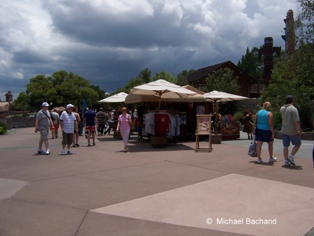 Shopping kiosk on the sidewalk