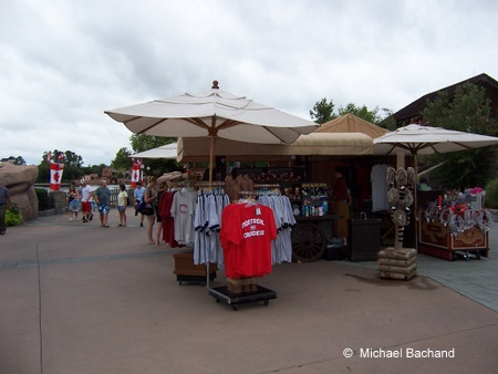 Close up of the kiosk