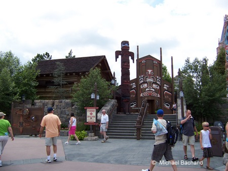 Looking up at the totem pole