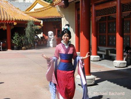 Mulan poses