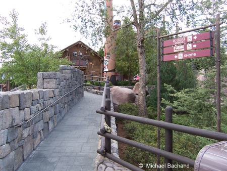 The handicap entrance to the shops