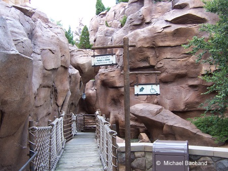 The handicap entrance to the O'Canada movie
