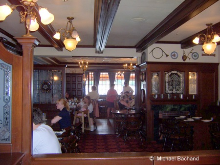 Inside the Rose and Crown restaurant