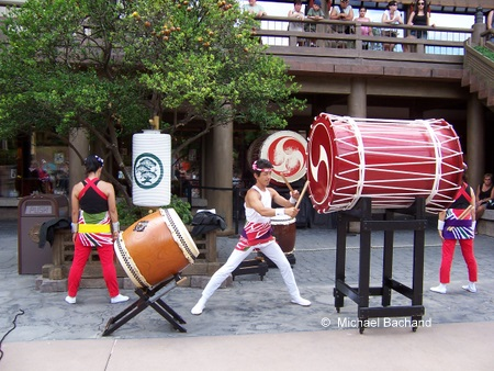 Drummers in action
