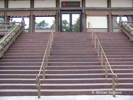Steps leading to Mitsukoshi restaurants